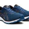Asics GT 1000 9 chaussures homme bleues devant trois quarts