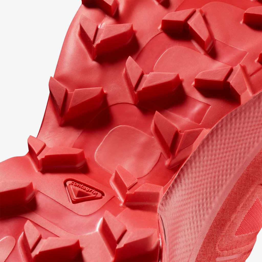 Salomon SpeedCross 5 chaussure droite dessous semelle crampons zoom